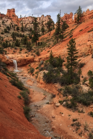 Tropic Ditch Waterfall Bryce Canyon National Park Utah