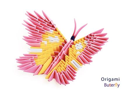 3D illustration white paper origami bird on a white background ... | 338x450