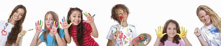 Photo pour kids art and craft classes or summer school - image libre de droit