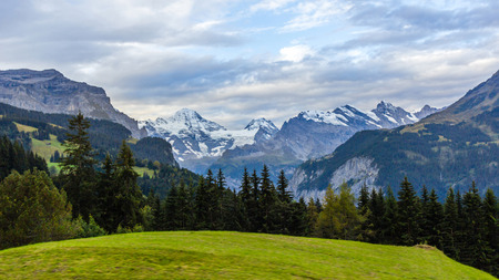 View of Swiss Alps from Wengen