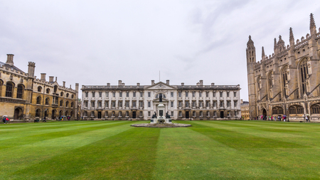 The Gibbs' Building in the King's College of the University of Cambridge in England. It lies besides the River Cam and faces out onto King's Parade in the city centre.