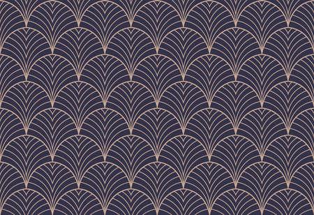 Illustration pour Art deco seamless pattern. Abstract vector background. Geometric elegant texture. - image libre de droit
