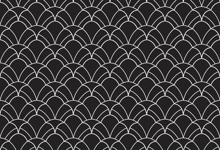 Illustration for Vector floral damask seamless pattern. Elegant abstract art nouveau background. Classic flower motif texture. - Royalty Free Image