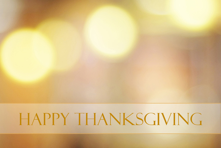 Photo for Happy thanksgiving on blur bokeh background, banner - Royalty Free Image