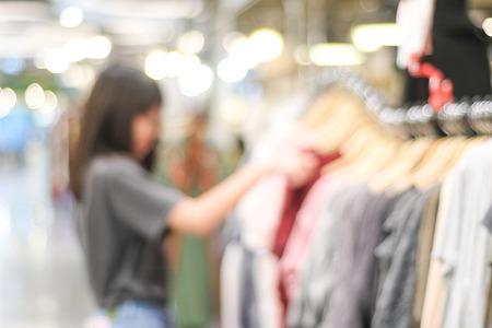 Foto für Blurred background, Blur store with people and bokeh light, business background - Lizenzfreies Bild