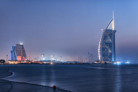Dubai city viewed from the Palm Jumeirah