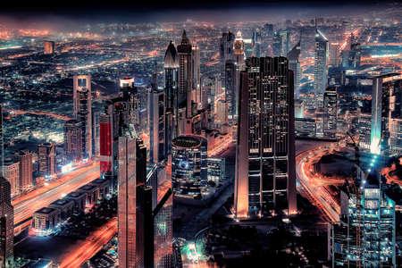Photo pour Dubai cityscape with the famous Sheikh Zayed Road - image libre de droit