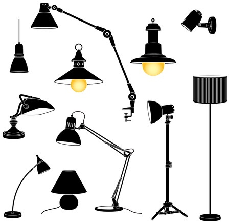 Collection of silohuette lamp