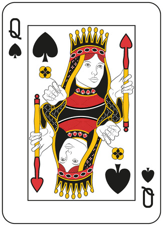 Queen of spades. Original design