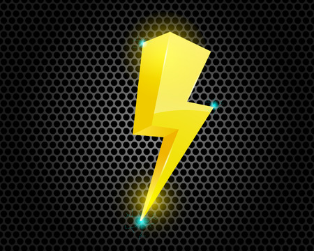 Thunder Lighting Bolt Symbol Illustration