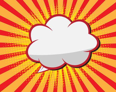 Foto de Comic Book Speech Bubble ,Pop art Background Vector Illustration - Imagen libre de derechos
