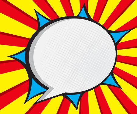 Illustration pour speech bubble pop art,comic book background vector illustration - image libre de droit