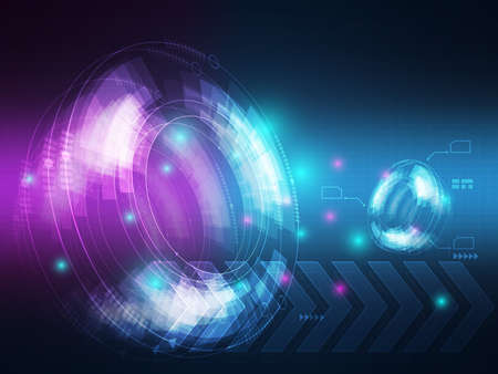 Illustration for abstract technology hi tech data transfer communication background vector illustration - Royalty Free Image