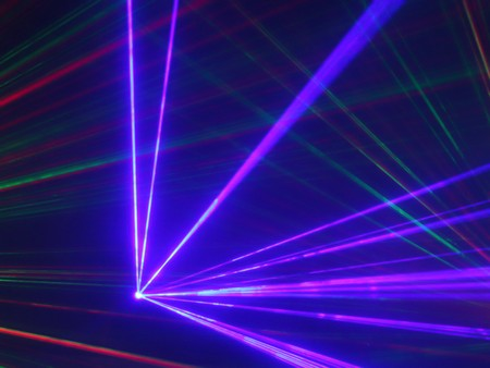 Photo pour colorful laser light in night club - image libre de droit