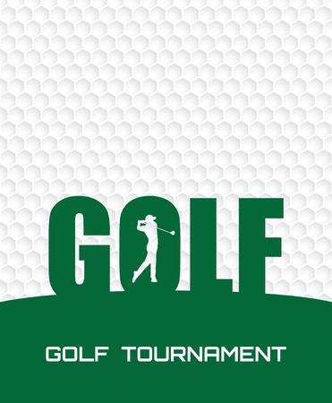 Ilustración de Golf tournament invitation flyer poster template graphic design. - Imagen libre de derechos