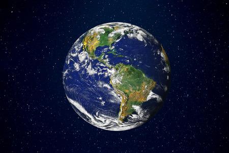 Foto de Earth on black background - Imagen libre de derechos