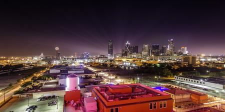 Night View of Dallas Skyline