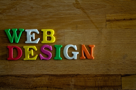 Webdesign written with colorful letters