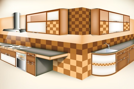 Exci kitchen room modern life style