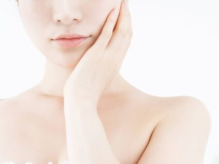 Women who care about facial skin careの写真素材