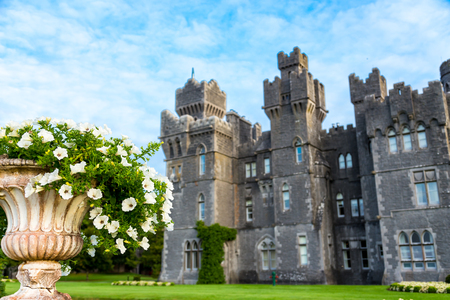 Mayo, Ireland - September 9, 2014. An amazing day at the beautiful Ashford Castle built in 1228.