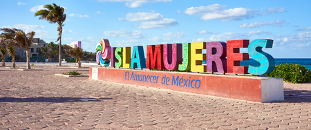Sign with so called Isla Mujeres / Welcome to Isla Mujeres