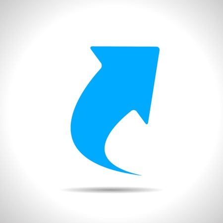 Illustration for Vector flat isolate blue arrow icon  Eps10 - Royalty Free Image