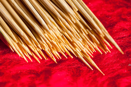 Several wooden toothpicks