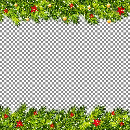 Ilustración de Christmas tree branches on transparent background vector - Imagen libre de derechos