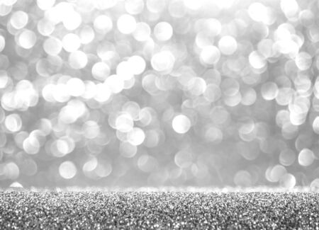 Photo pour Abstract glitter silver background. Holiday shiny texture. Winter xmas theme - image libre de droit