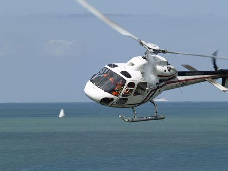 Helicopter at Cap Gris-Nez (France)