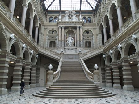 Main hall of the Vienna Palace of Justice