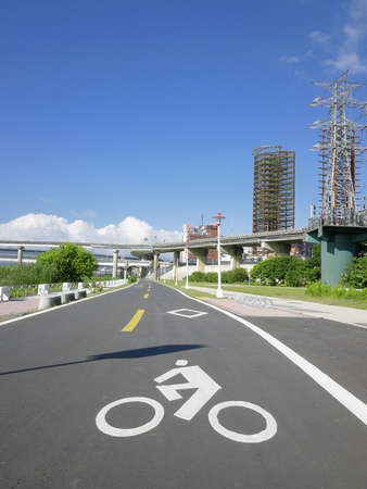 Bicycle way in the park