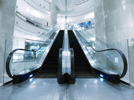 Escalator in department store