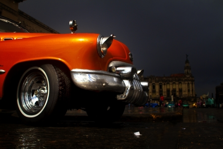 Old colorfull car in the street of Havana,Cuba