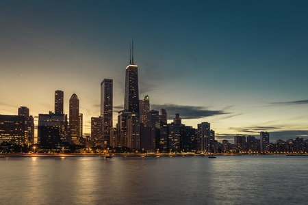 Chicago Downtown Glow Wallpaper Mural