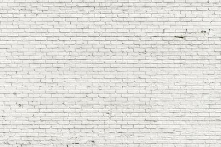 Photo pour White brick wall for background or texture - image libre de droit