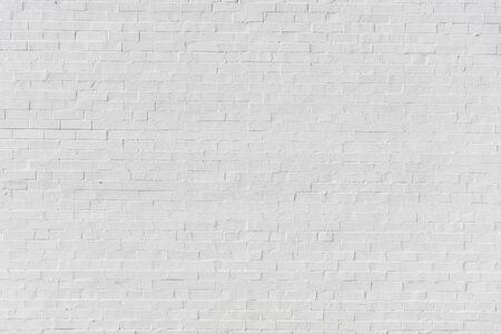 Photo pour White painted brick wall for texture or background - image libre de droit