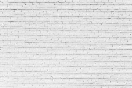 Photo for Brick painted white wall with delicate shadows, can be used for texture or background - Royalty Free Image