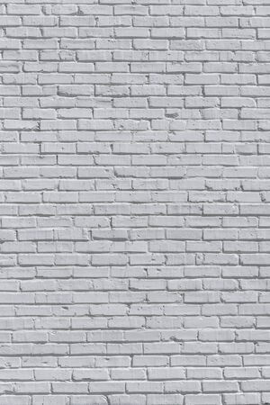 Photo for Brick painted white wall, can be used for texture or background - Royalty Free Image
