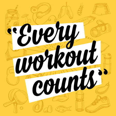 Fitness motivation quote poster.