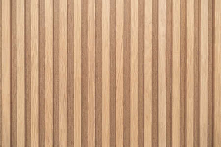Foto de Wood battens wall pattern texture. interior design decoration background - Imagen libre de derechos