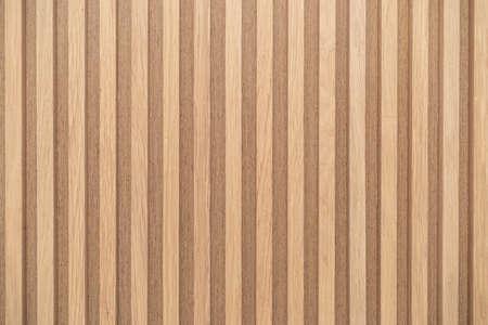 Photo pour Wood battens wall pattern texture. interior design decoration background - image libre de droit