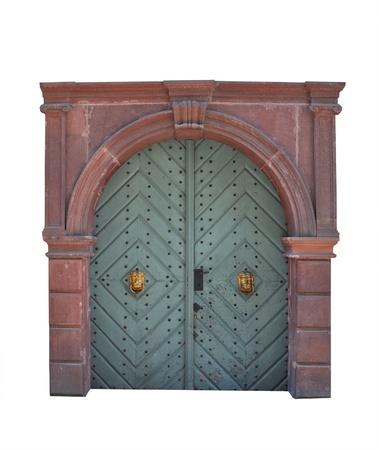 Old large wooden door - door portal