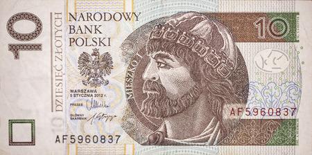 King of Poland Mieszko I on de bill of ten Polish zloty