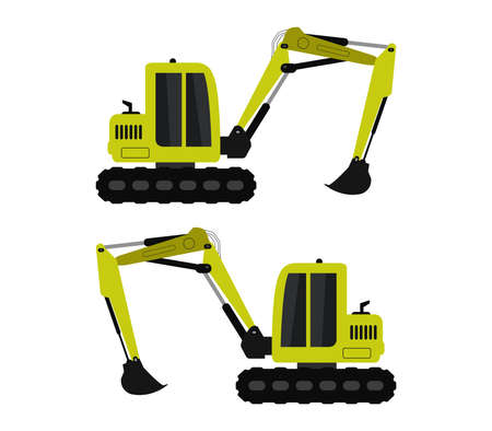 Illustration for excavator - Royalty Free Image