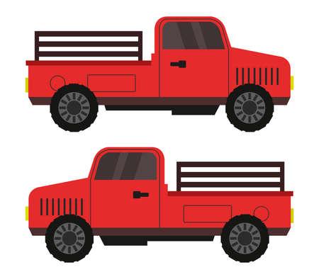 Illustration pour Red truck illustration - image libre de droit
