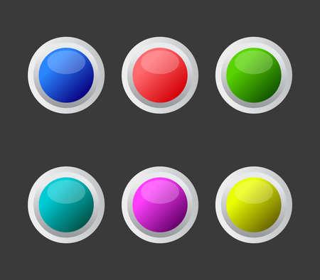Illustration pour web button icon - image libre de droit