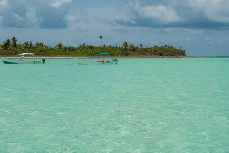 Blue waters of the biosphere of Sian Ka'an nature reserve