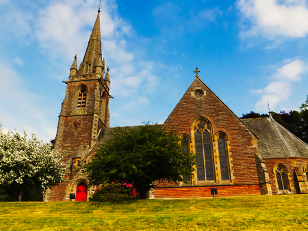 Scottish church, Stow, Cathedral, old building, religion